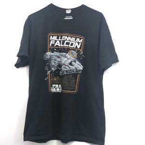 StarWars Millennium falcon black graphic tee